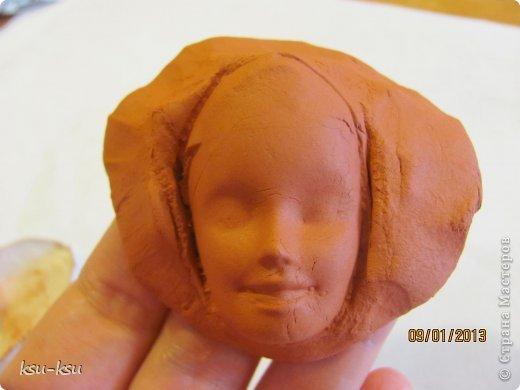 Куклы Мастер-класс Скульптура Лепка заготовка для головы Гипс Глина фото 8