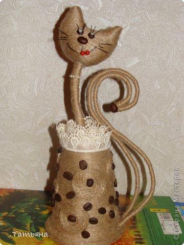 Кошка из джута 45