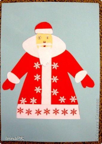 К Новому году сделали много работ с детьми. Такие открытки – в подарок родителям. фото 19