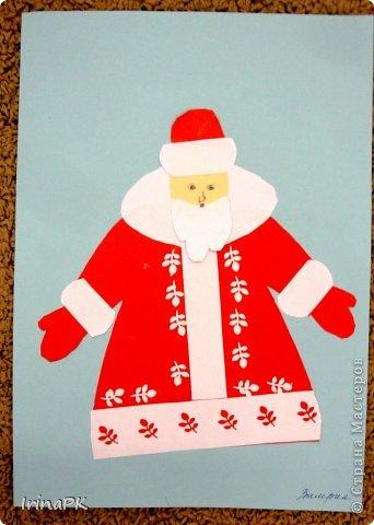 К Новому году сделали много работ с детьми. Такие открытки – в подарок родителям. фото 20