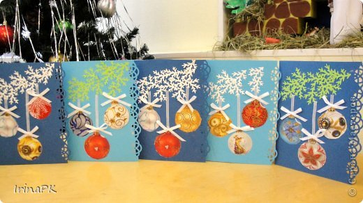 Открытки своими руками новогодние в детский сад