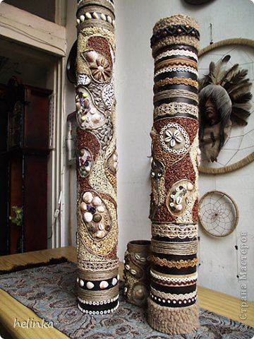 Напольные вазы из труб фото