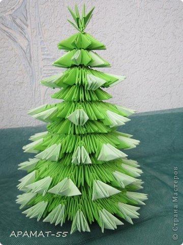 Елочка из оригами как сделать модули