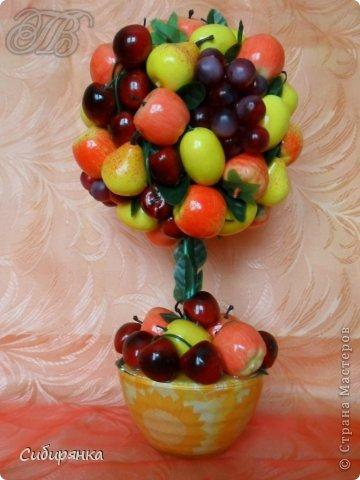Топиарий из фруктов своими руками видео