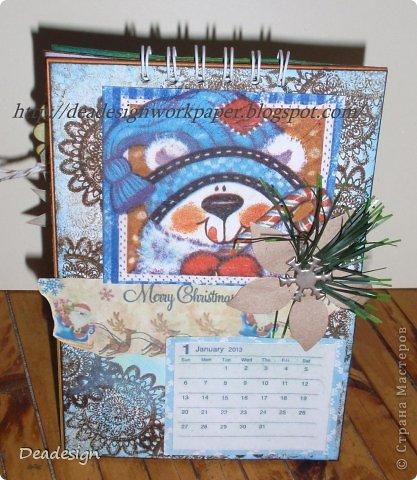 Календари сейчас всюду - в магазинах , в киосках, в блогах :)Насмотрелась, что все делают и тоже несколько сделала :) фото 1