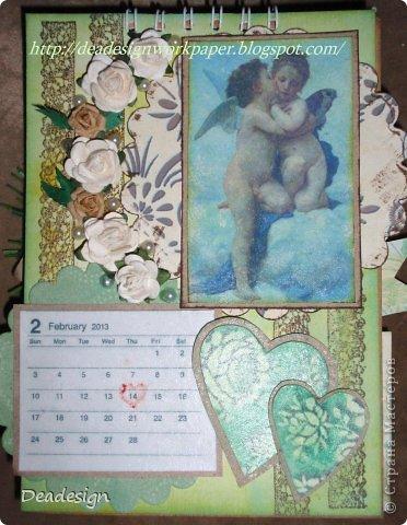 Календари сейчас всюду - в магазинах , в киосках, в блогах :)Насмотрелась, что все делают и тоже несколько сделала :) фото 2