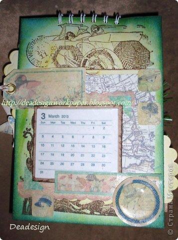 Календари сейчас всюду - в магазинах , в киосках, в блогах :)Насмотрелась, что все делают и тоже несколько сделала :) фото 3
