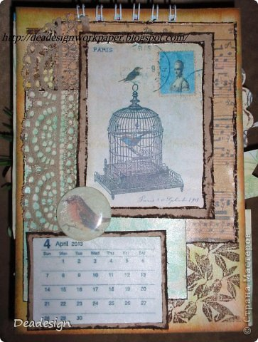 Календари сейчас всюду - в магазинах , в киосках, в блогах :)Насмотрелась, что все делают и тоже несколько сделала :) фото 4
