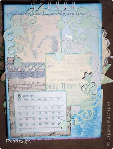 Календари сейчас всюду - в магазинах , в киосках, в блогах :)Насмотрелась, что все делают и тоже несколько сделала :) фото 6