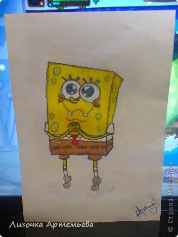 как рисовать спанч боба карандашом: