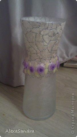 Декор предметов Лепка ваза с цветами из глины фимо Бисер Глина фото 3.