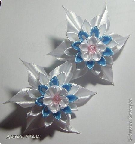 Цветы из лент фото 3