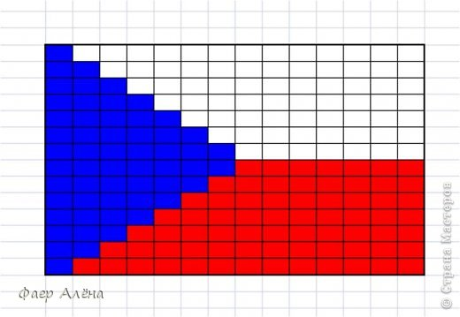 Флаг кубы из бисера