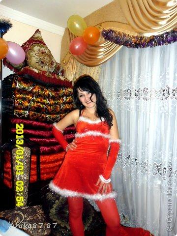 Это я сшила себе вот такой новогодний костюмчик за вечер. Дешево и сердито! фото 1