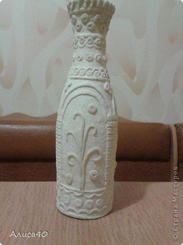 Поделка изделие Лепка Бронзовая ваза не МК просто рассказ с картинками Бутылки стеклянные Тесто соленое фото 4
