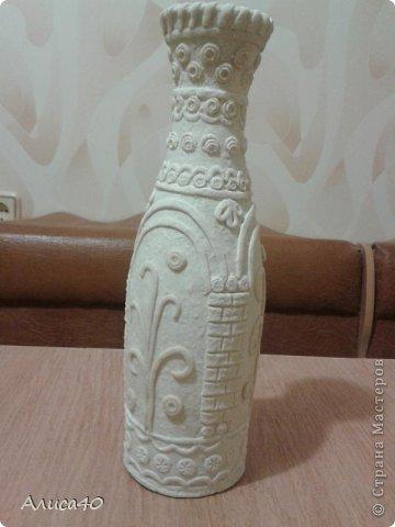 Поделка изделие Лепка Бронзовая ваза не МК просто рассказ с картинками Бутылки стеклянные Тесто соленое фото 5