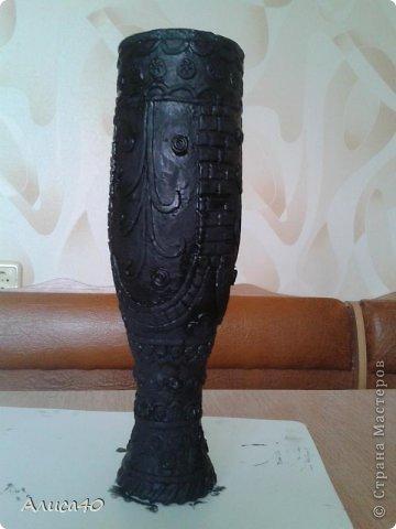 Поделка изделие Лепка Бронзовая ваза не МК просто рассказ с картинками Бутылки стеклянные Тесто соленое фото 6