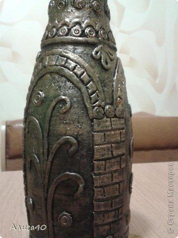 Поделка изделие Лепка Бронзовая ваза не МК просто рассказ с картинками Бутылки стеклянные Тесто соленое фото 7