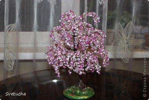 Бонсай топиарий Бисероплетение Деревья из бисера и натуральных камней Бисер фото 9.