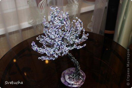Бонсай топиарий Бисероплетение Деревья из бисера и натуральных камней Бисер фото 12.