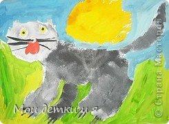 На уроке ИЗО детки рисовали с Татьяной Александровной таких чудесных котов. фото 1