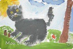 На уроке ИЗО детки рисовали с Татьяной Александровной таких чудесных котов. фото 2