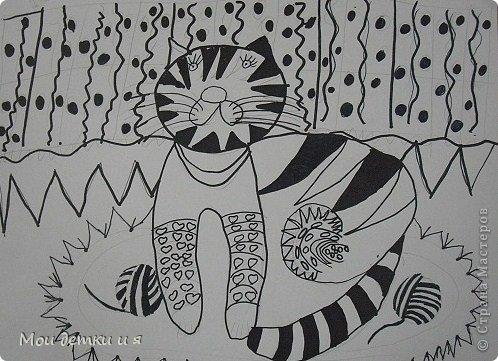 На уроке ИЗО детки рисовали с Татьяной Александровной таких чудесных котов. фото 5