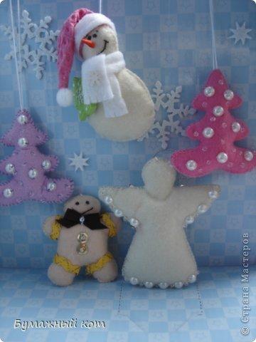 Поделка изделие Новый год Шитьё Ёлочные игрушки из фетра часть вторая Фетр фото 9