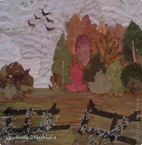 Картина панно рисунок Праздник осени Аппликация флористика Осенний пейзаж Материал природный фото 16