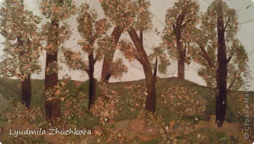 Картина панно рисунок Праздник осени Аппликация флористика Осенний пейзаж Материал природный фото 17