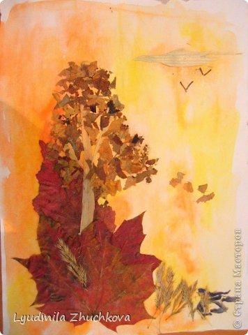 Картина панно рисунок Праздник осени Аппликация флористика Осенний пейзаж Материал природный фото 12