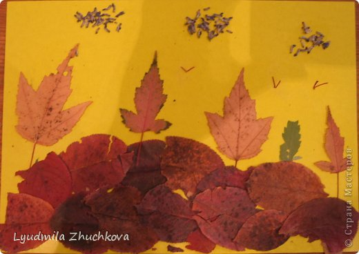 Картина панно рисунок Праздник осени Аппликация флористика Осенний пейзаж Материал природный фото 6