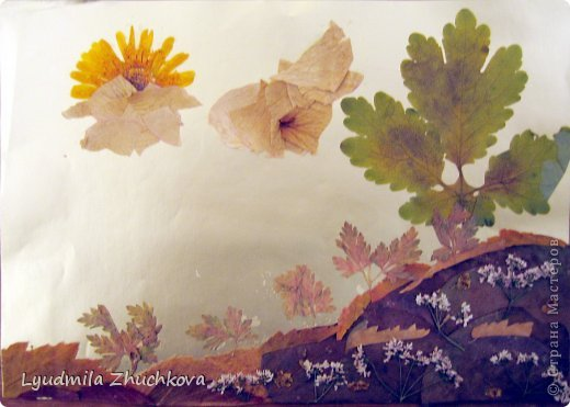 Картина панно рисунок Праздник осени Аппликация флористика Осенний пейзаж Материал природный фото 9