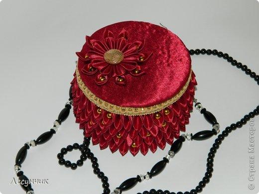 Декор предметов День рождения Цумами Канзаши Шкатулки Ленты фото 4