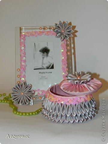 Декор предметов День рождения Цумами Канзаши Шкатулки Ленты фото 1