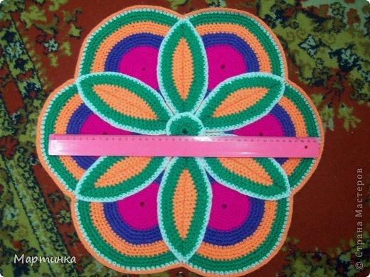 Вязание крючком половики кружки