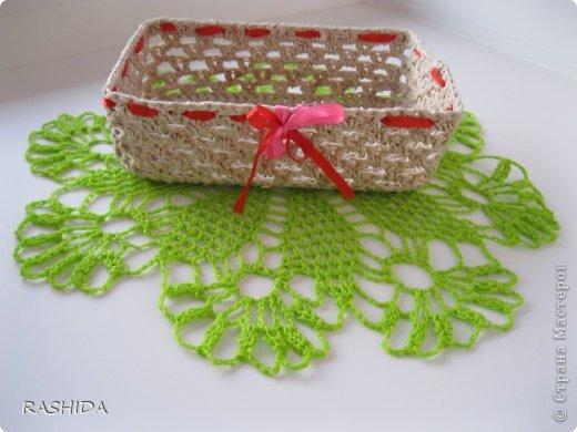 Ажурные шкатулки и конфетницы связанные крючком из шпагатной веревки .Шкатулку можно применять для всяких мелочей.Вяжется очень легко и просто Схемы простые. фото 14
