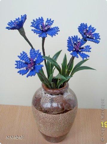Цветы из бисера схемы васильки