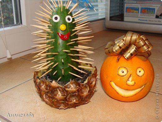Фото поделок из овощей и фруктов своими руками