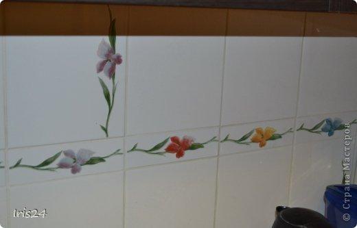 Вот такие ирисы будут украшать мою кухню. Честно говоря не я автор, это плагиат - нашла подобный витраж в интернете, не смогла устоять. фото 3