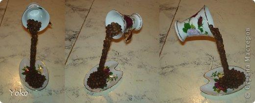 Поделка изделие Моделирование Летающая чашка+мини МК Клей Кофе Проволока Продукты пищевые фото 11
