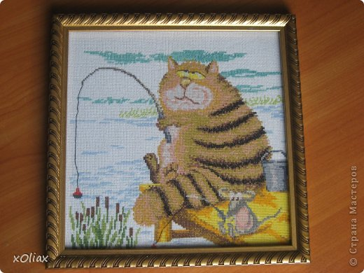 Картина панно рисунок Вышивка крестом Рыбачки Канва.