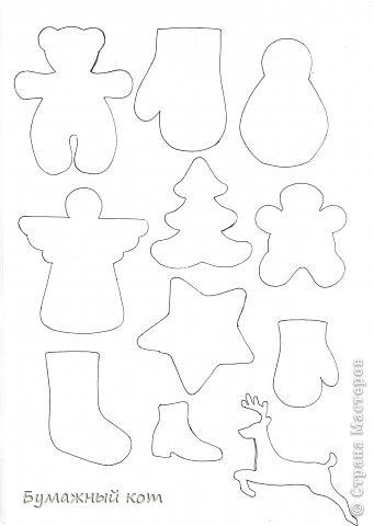 Игрушка Поделка изделие Новый год Шитьё Варежки на ёлочку+ выкройки Бисер Бусинки Фетр фото 8