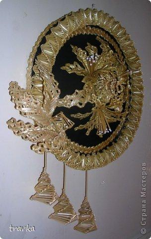 Поделка изделие Плетение Веночек Соломка фото 2.