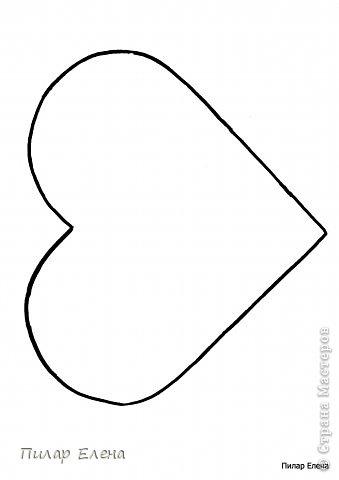 Шаблон сердца, увеличить по размеру листа А4.