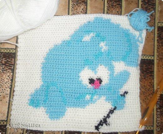 Схемы для вязания детского покрывала 73