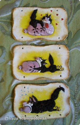 Поделка изделие 23 февраля 8 марта День рождения Лепка Мыши и коты   Рыбки и  цветы -   Тесто соленое фото 44