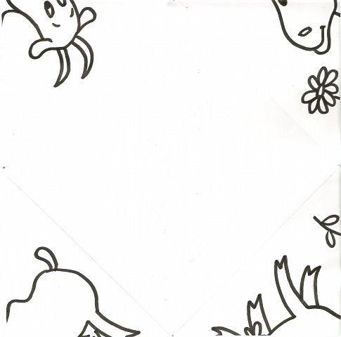 """Благодаря работе мастера Lyumila - https://stranamasterov.ru/node/500924 (за что ей сердечное спасибо!) у меня родилась идея провести один из конкурсов на дне рождения у сыночка на основе игры """"Кто наследил?"""" Делюсь с вами, дорогие мамочки, своими рисунками-заготовками к этой игре. Можете взять рисунки, разрезать их по диагонали и сделать заготовки игры сами (пройдёте по ссылочке и всё поймёте) или сразу распечатать мои заготовки для сгибания, нарисовать на обороте следочки, прочертить линии сгиба - и ИГРАТЬ! Вот такая коза получится... фото 2"""
