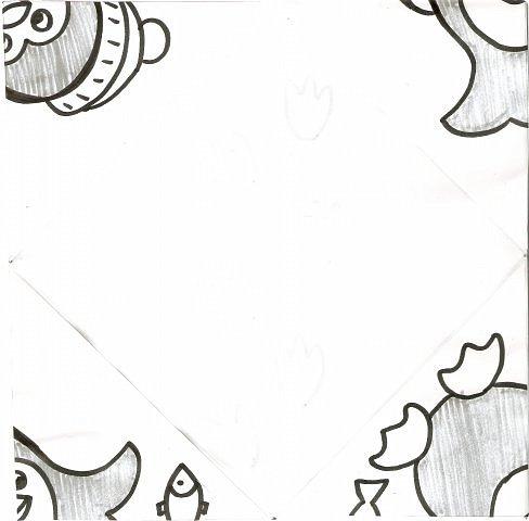 """Благодаря работе мастера Lyumila - https://stranamasterov.ru/node/500924 (за что ей сердечное спасибо!) у меня родилась идея провести один из конкурсов на дне рождения у сыночка на основе игры """"Кто наследил?"""" Делюсь с вами, дорогие мамочки, своими рисунками-заготовками к этой игре. Можете взять рисунки, разрезать их по диагонали и сделать заготовки игры сами (пройдёте по ссылочке и всё поймёте) или сразу распечатать мои заготовки для сгибания, нарисовать на обороте следочки, прочертить линии сгиба - и ИГРАТЬ! Вот такая коза получится... фото 9"""