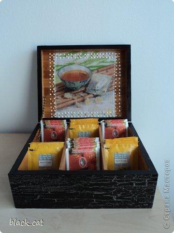 Коробка для чайных пакетиков фото 4